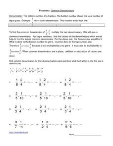 Common denominators Lesson Plan