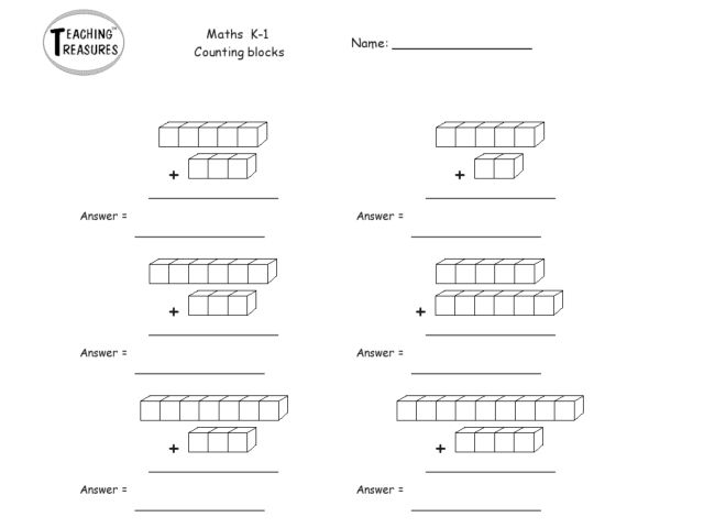 counting and adding unit cubes for k students worksheet for   counting and adding unit cubes for k students worksheet