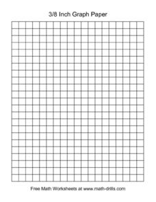 3/8  Inch Graph Paper Worksheet