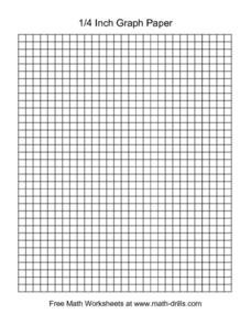 1/4   Inch Graph Paper Worksheet