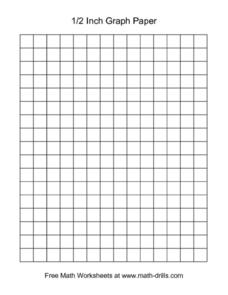 1/2 Inch Graph Paper Worksheet