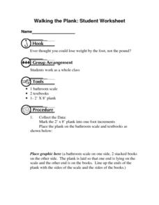 Walking the Plank: Student Worksheet Lesson Plan