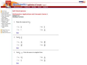Fraction Division Worksheet