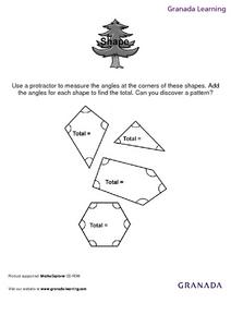 Shape (Using a Protractor) Lesson Plan