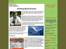 Climbing Mount Everest Lesson Plan