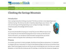 Climbing the Savings Mountain Lesson Plan