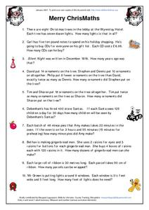 Merry ChrisMaths Worksheet