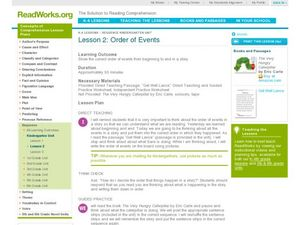 Order of Events Lesson Plan