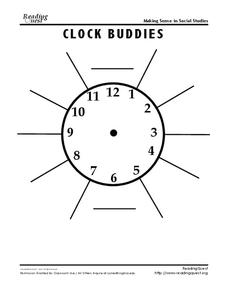 Clock Buddies Worksheet