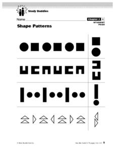Shape Patterns Lesson Plan