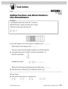 Adding Fractions and Mixed Numbers Lesson Plan