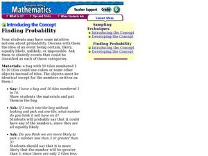 Finding Probability Lesson Plan