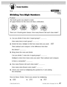 Study Buddies: Dividing Two-Digit Numbers Lesson Plan