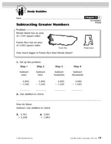 Subtracting Greater Numbers Lesson Plan