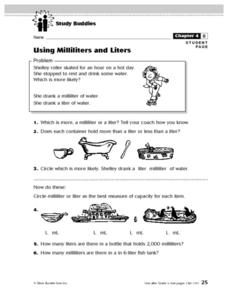 Using Milliliters And Liters Lesson Plan