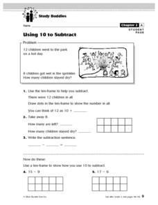 Using 10 to Subtract Lesson Plan