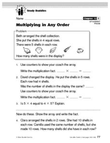 Multiplying in Any Order Lesson Plan