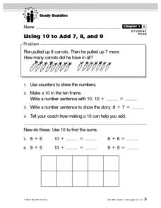 Using 10 to Add 7, 8, and 9 Lesson Plan