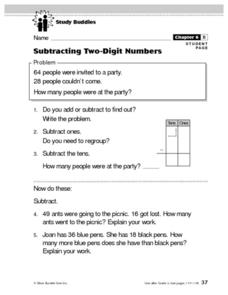 Subtracting Two-Digit Numbers Lesson Plan