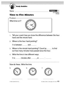 Time to Five Minutes Lesson Plan