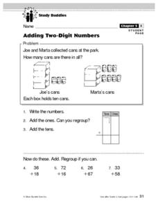 Adding Two-Digit Numbers Lesson Plan