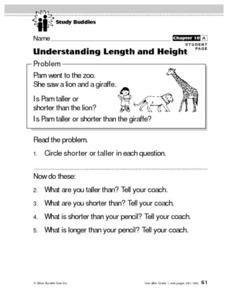 Understanding Length and Height Lesson Plan