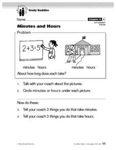 Minutes and Hours Lesson Plan