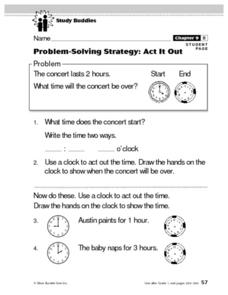 Problem-Solving Strategy: Act It Out Lesson Plan
