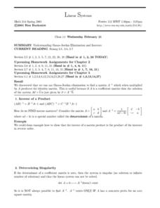 Linear Systems:  Gauss-Jordan Elimination Worksheet