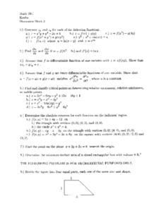 Discussion Sheet 3:  Function Worksheet