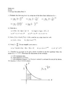 Challenge Discussion Sheet 9 Worksheet