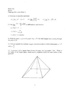 Challenge Discussion Sheet 3 Worksheet