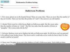 Halloween Problems Worksheet