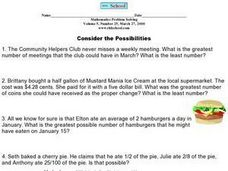 Consider the Possibilities Worksheet
