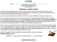 Statistics and the Truth Worksheet