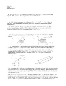 Proportional Dimensions Worksheet