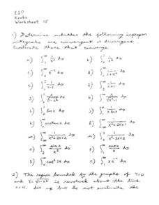 Worksheet 15:  Integrals Worksheet