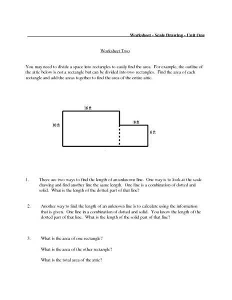 Worksheet-Scale Drawing-Unit One Lesson Plan