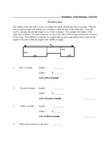 Worksheet Three:  Area of Composite Figures Lesson Plan