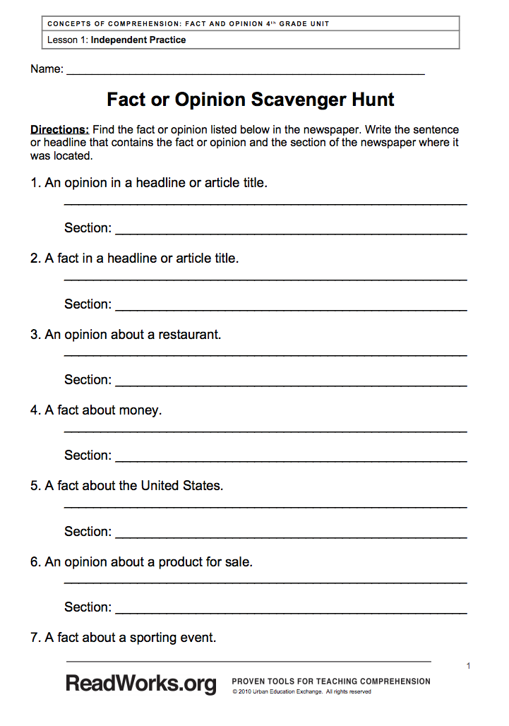 Fiction  prehension Worksheets Download Them And Try To Solve Fact furthermore fact vs opinion worksheet   Google Search   Social Stus besides 204 Best Fact vs Opinion images   Fact  opinion  Anchor charts as well fact and fiction worksheets – spechp info additionally  additionally Fact and Opinion  prehension with a Winter Theme additionally Fact and Opinion Lesson Plans   Worksheets   Lesson Pla moreover  also Fact Opinion Worksheets 6th Grade Or – cycconteudo co besides Fact or Opinion  Worksheets to Print   EnchantedLearning additionally 8th grade reading  prehension moreover Fact and Opinion  prehension with a Winter Theme additionally 3rd Grade Science Worksheets Fact Opinion Worksheet Preview Fiction likewise  in addition Distinguishing Between Fact And Opinion  prehension Task together with prehension Worksheets. on fact and opinion comprehension worksheets