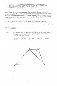 Trigonometry Involving Figures - Week 11 Lesson Plan