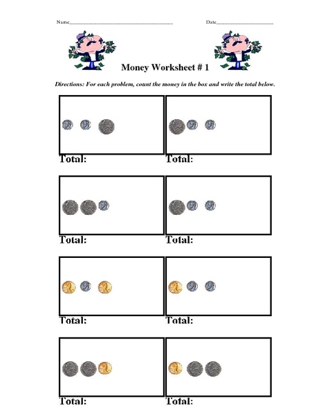 Counting Money Nickels Dimes And Pennies Worksheet For