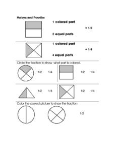 Simple Fraction Identification Worksheet