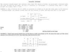 Interest Problems Worksheet