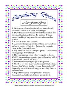 Mix Freeze Group Lesson Plan