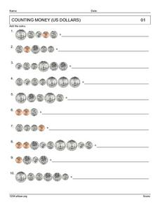 Counting Money (US Coins) Worksheet