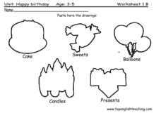 Happy Birthday: Paste the Drawings Lesson Plan