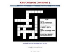 Kids Christmas Crossword 2 Worksheet