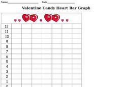 Valentine Candy Heart Bar Graph Worksheet