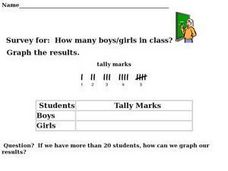 Survey, Tally, Graph:  Boys and Girls in the Class Worksheet
